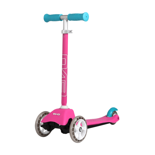 Evo 3 Wheeled Mini Cruiser Scooter - Pink