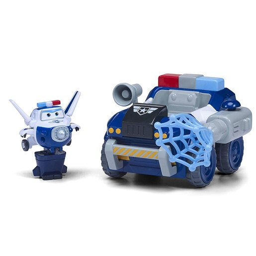 Super Wings Transform A Bot - Paul's Police Patroller