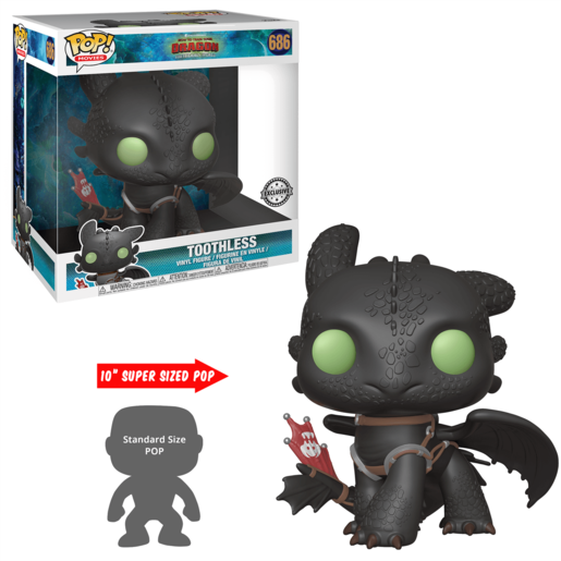 Funko Pop! Movies: How To Train Your Dragon - The Hidden World - Toothless 10inch (UK Exclusive)