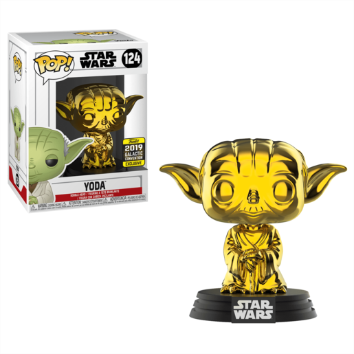Funko Pop! Star Wars - Chrome Yoda - 2019 Galactic Convention (UK Exclusive)