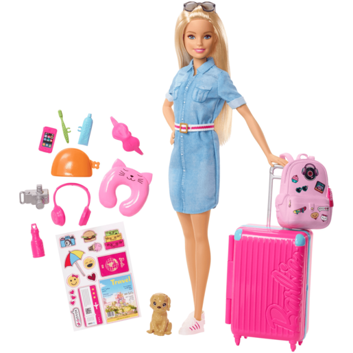 Barbie Doll Travel Playset