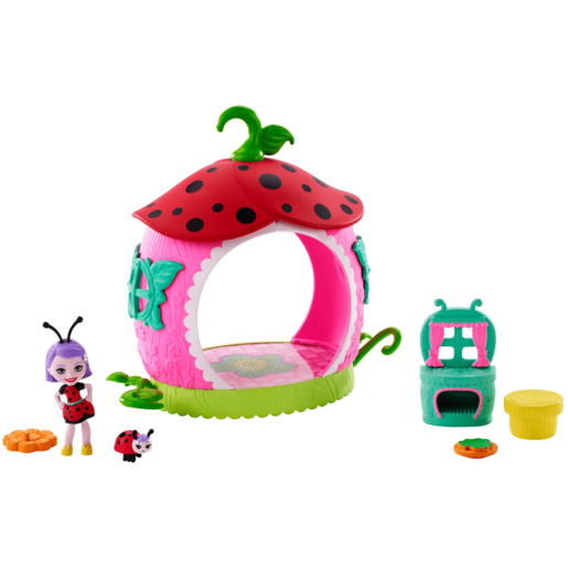 Enchantimals Ladelia Ladybug Doll Teeny Kitchen Playset
