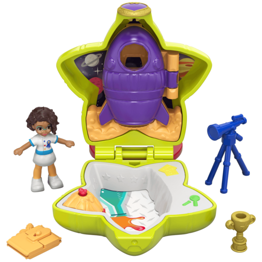 Polly Pocket Tiny Pocket Places - Shani's Rockin' Science Compact Playset