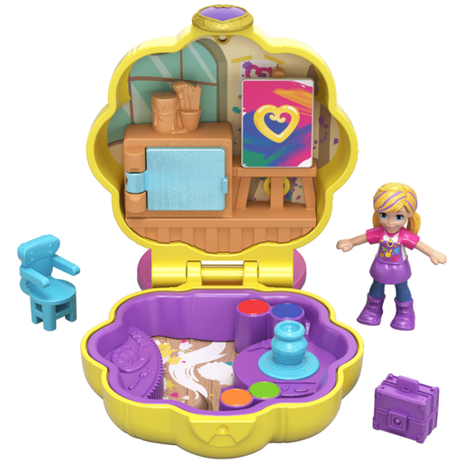 Polly Pocket Tiny Pocket Places - Polly's Awesome Art Studio Compact Playset