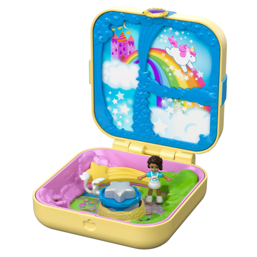 Polly Pocket Hidden Hideouts - Shani's Unicorn Utopia Playset
