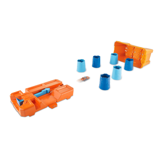 Hot Wheels Track Builder Barrel Box Playset