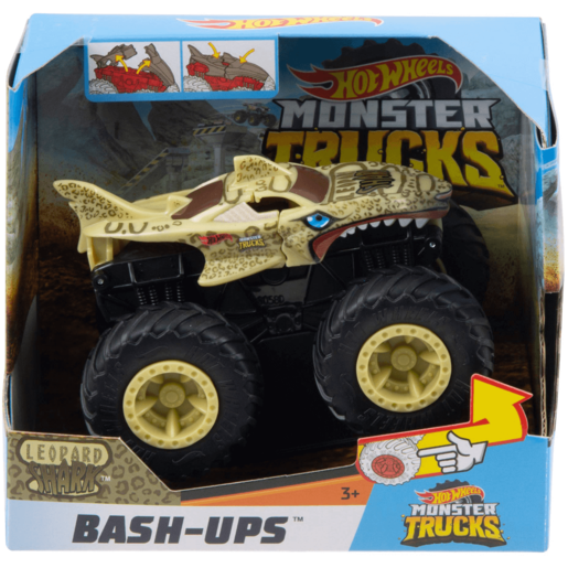 Hot Wheels Monster Trucks Bash-Ups - Leopard Shark