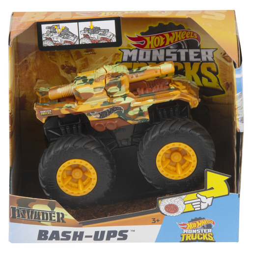 Hot Wheels Monster Trucks Bash-Ups - Invader