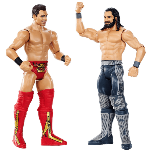 WWE WrestleMania 15cm 2 Pack Action Figures - The Miz vs Seth Rollins