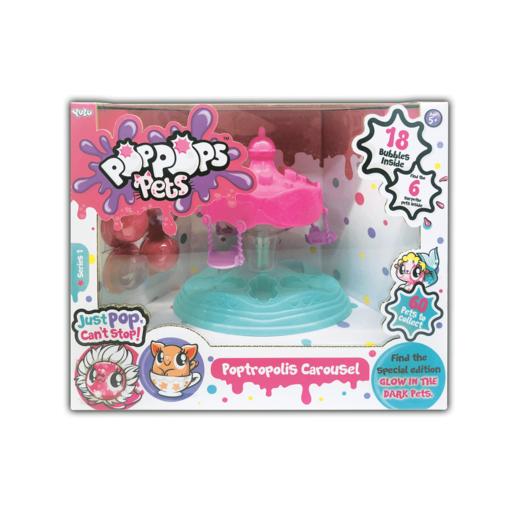 Pop Pops Pets - Carousel Playset (18 Bubbles)