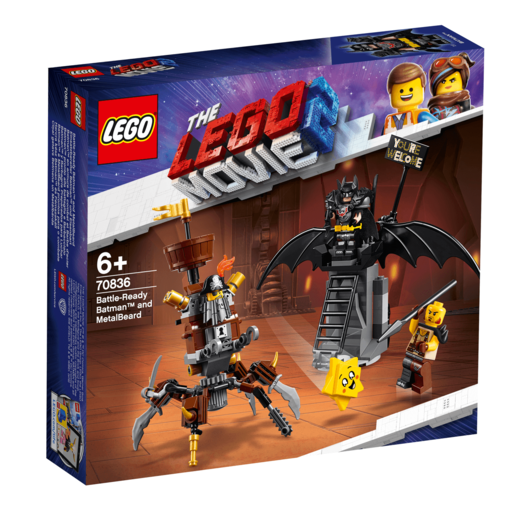 The LEGO Movie 2 Battle-Ready Batman and Metal Beard - 70836