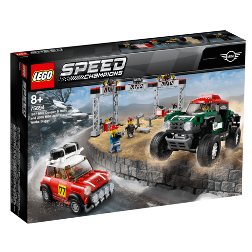 LEGO Speed Champions Mini Cooper S Rally 1967 vs Mini Cooper Works Buggy 2018 - 75894