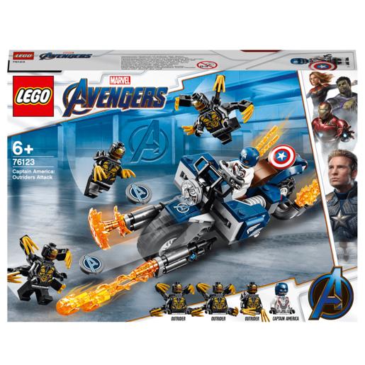 LEGO Marvel Avengers Endgame Captain America Outrider Attack - 76123