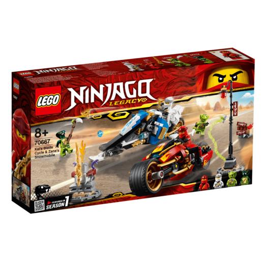 Lego Ninjago Kai S Blade Cycle Amp Zane S Snowmobile 70667