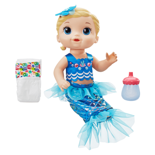 Baby Alive Shimmer 'n Splash Mermaid - Blonde Hair Doll