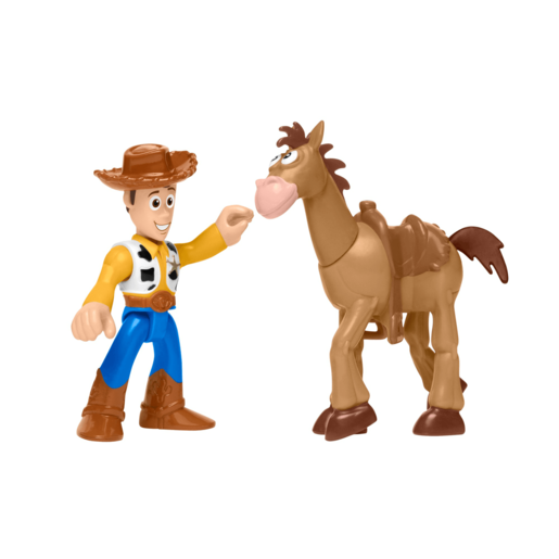 Fisher-Price Imaginext Disney Pixar Toy Story Figures - Woody and Bullseye