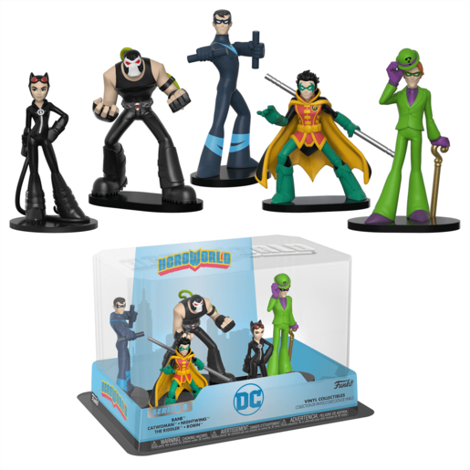 Funko Pop! Hero World: DC Comics - Bane, Catwoman, Nightwing, The Riddler and Robin