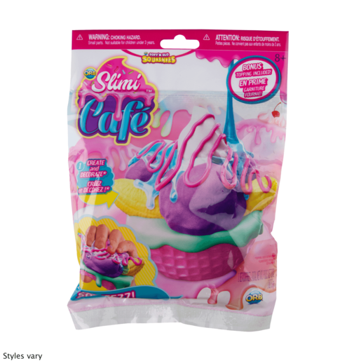 Soft'n Slo Squishies Orb Slimi Café - Decoration Kit with Topping (Styles Vary)