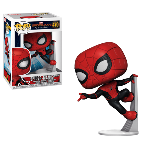 Funko Pop! Marvel: Spider Man Far From Home   Spider Man (Upgraded Suit)