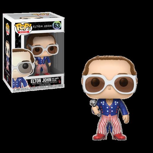 Funko Pop! Rocks: Elton John - Red White  Blue