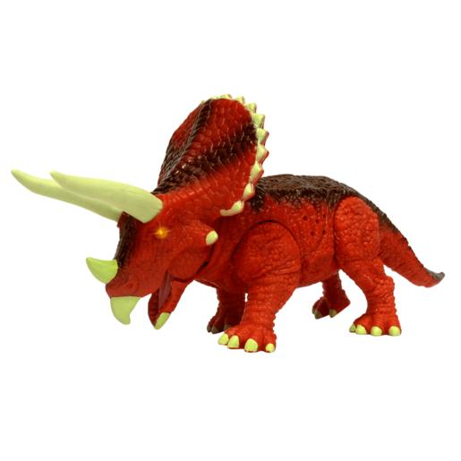Mighty Megasaur 20cm Light and Sound Dinosaur - Triceratops