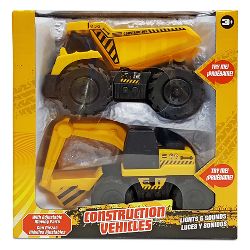Construction Vehicles with Lights and Sounds - Dumper Truck