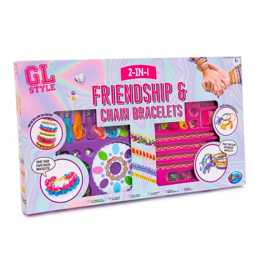 GL Style 2-In-1 Friendship and Chain Bracelet Set