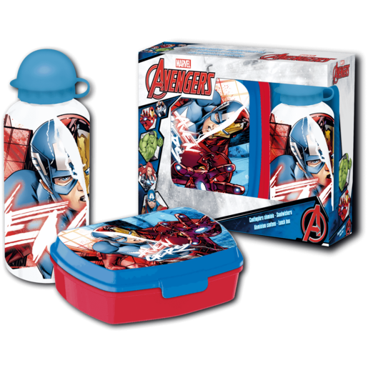 Marvel Avengers Sandwich Box and 400ml Canteen