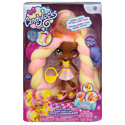 Candylocks 17cm Deluxe Scented Doll - Lacey Lemonade