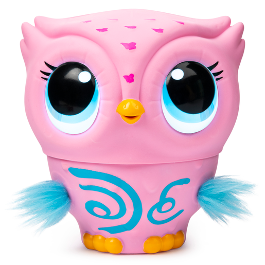 Owleez Flying Baby Owl Interactive Toy - Pink