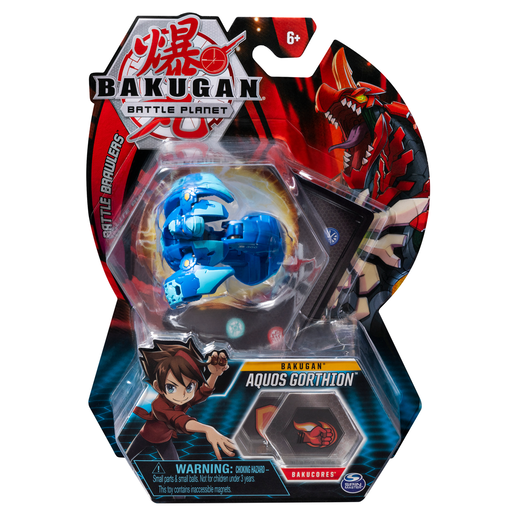 Bakugan 5cm Tall Action Figure and Trading Card - Aquos Gorthion