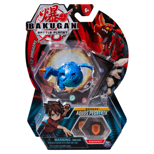 Bakugan 5cm Tall Action Figure and Trading Card - Aquos Pegatrix