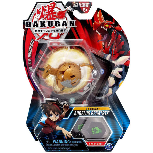 Bakugan 5cm Tall Action Figure and Trading Card - Aurelus Pegatrix