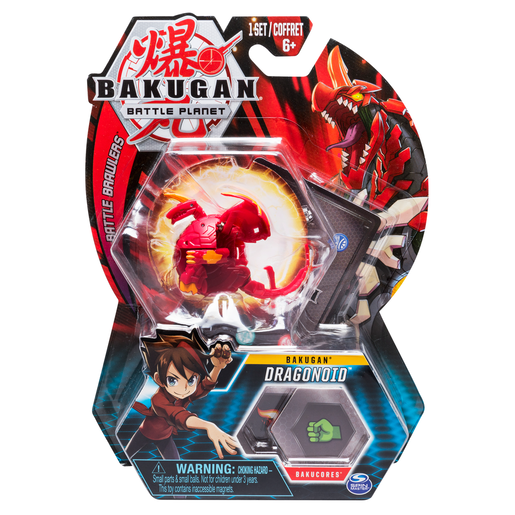 Bakugan 5cm Tall Action Figure and Trading Card - Dragonoid