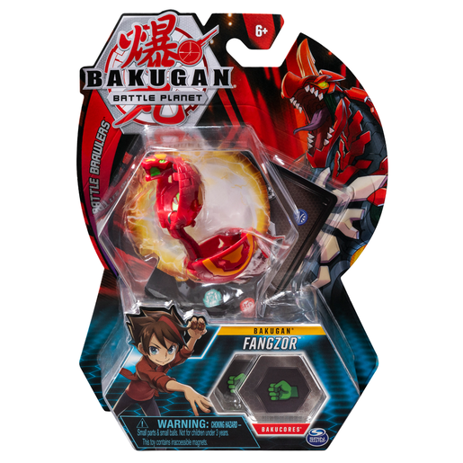 Bakugan 5cm Tall Action Figure and Trading Card - Fangzor