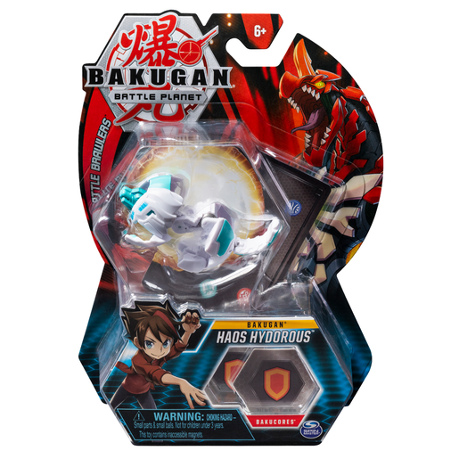 Bakugan 5cm Tall Action Figure and Trading Card - Haos Hydorous