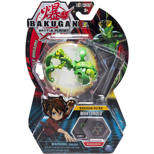 Bakugan 5cm Tall Action Figure and Trading Card - Mantonoid
