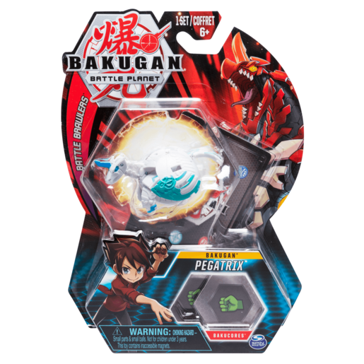Bakugan 5cm Tall Action Figure and Trading Card - Pegatrix