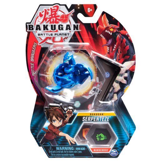 Bakugan 5cm Tall Action Figure and Trading Card - Serpenteze