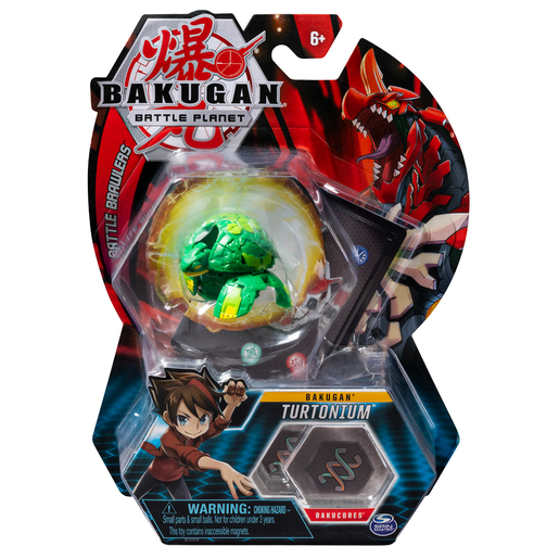 Bakugan 5cm Tall Action Figure and Trading Card - Turtonium
