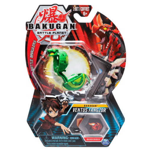 Bakugan 5cm Tall Action Figure and Trading Card - Ventus Fangzor