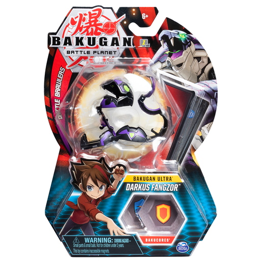 Bakugan 8cm Ultra Action Figure and Trading Card - Darkus Fangzor