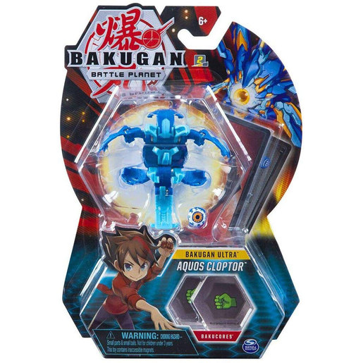 Bakugan 8cm Ultra Action Figure and Trading Card - Aquos Cloptor