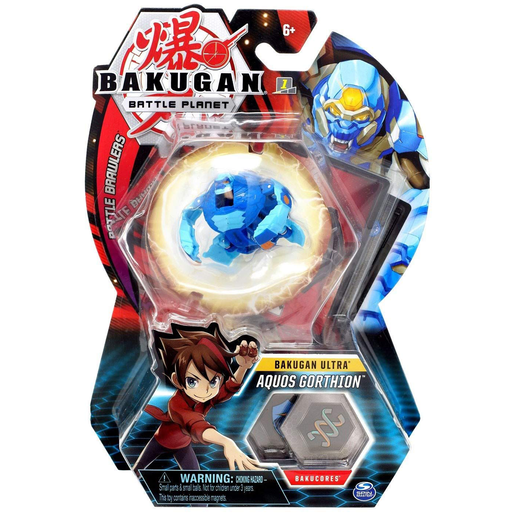 Bakugan 8cm Ultra Action Figure and Trading Card - Aquos Gorthion