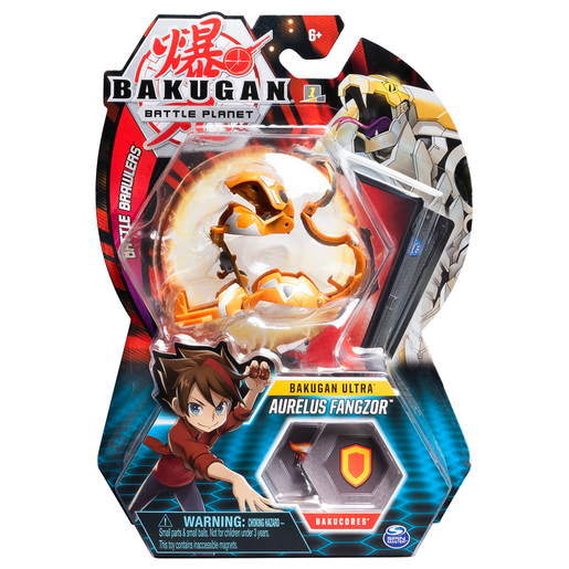 Bakugan 8cm Ultra Action Figure and Trading Card - Aurelus Fangzor