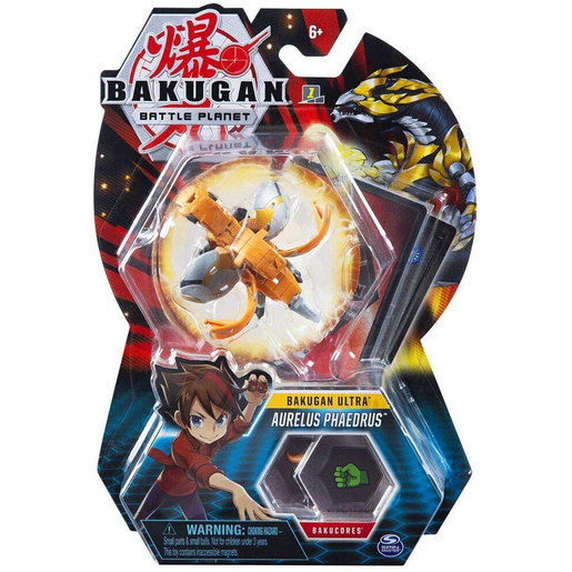 Bakugan 8cm Ultra Action Figure and Trading Card -  Aurelus Phaedrus