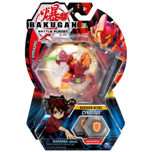 Bakugan 8cm Ultra Action Figure and Trading Card - Cyndeous