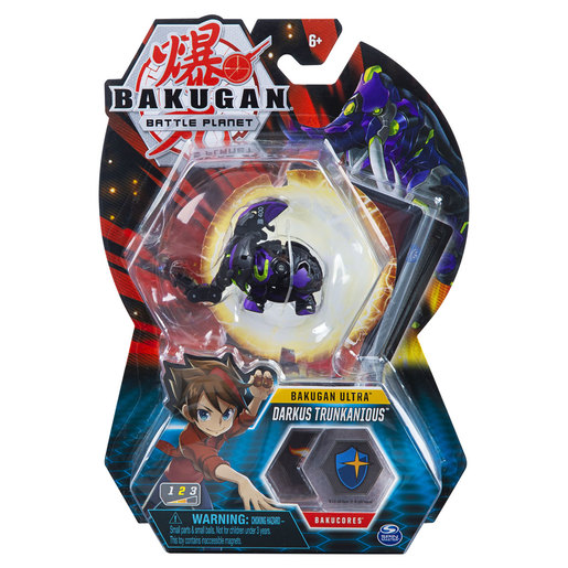 Bakugan 8cm Ultra Action Figure and Trading Card - Darkus Trunkanious