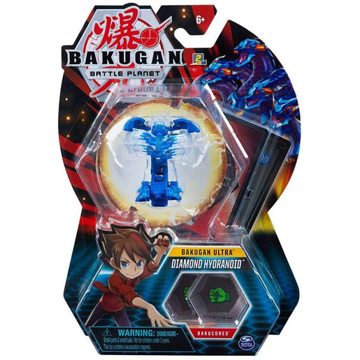 Bakugan 8cm Ultra Action Figure and Trading Card - Diamond Hydranoid