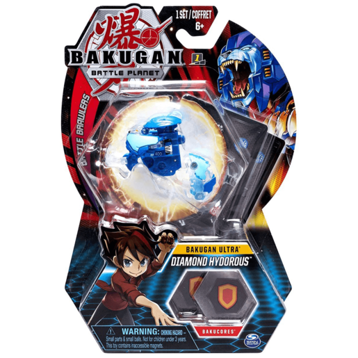 Bakugan 8cm Ultra Action Figure and Trading Card - Diamond Hydorous